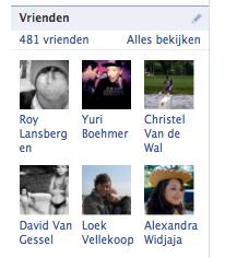 Bijna 500 Facebook vrienden