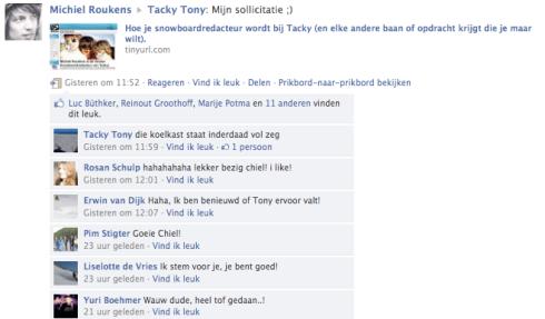 sollicitatie bericht Solliciteren via facebook : 3 keiharde resultaten van het Tacky  sollicitatie bericht
